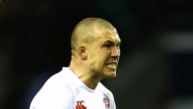 England's Brown celebrates defeating Ireland in their Six Nations Championship rugby union match at Twickenham in London