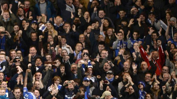 Chelsea's Eto'o celebrates after scoring a goal against FC Schalke 04 during their Champions League soccer match in London