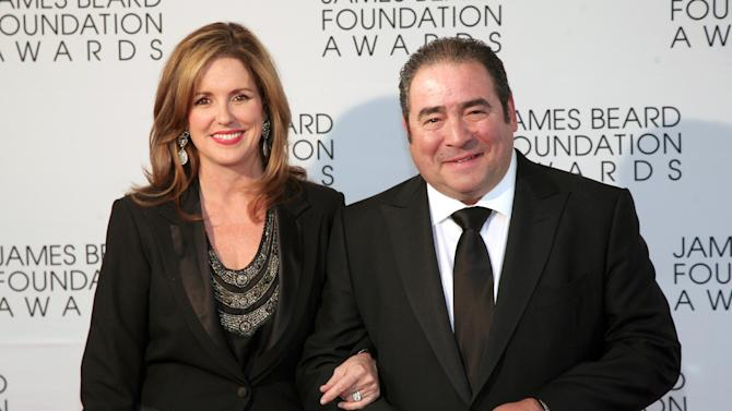 Restauranteur Emeril Lagasse, right, with his wife Alden Lovelace, arrives at the James Beard Foundation Awards Gala on Monday, May 6, 2013, in New York. (Photo by Andy Kropa/Invision/AP)
