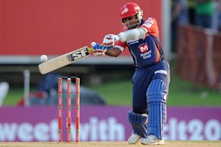 PRETORIA, SOUTH AFRCA - OCTOBER 13: Mahela Jayawardene of the Daredevils bats during the Karbonn Smart CLT20 Group A match between Kolkata Knight Riders (IPL) and Delhi Daredevils (IPL) at SuperSport Park on October 13, 2012 in Pretoria, South Africa. (Photo by Lee Warren/Gallo Images/Getty Images)