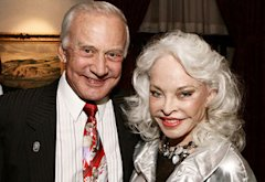 Buzz Aldrin and Lois Driggs Cannon | Photo Credits: Jerod Harris/Getty Images