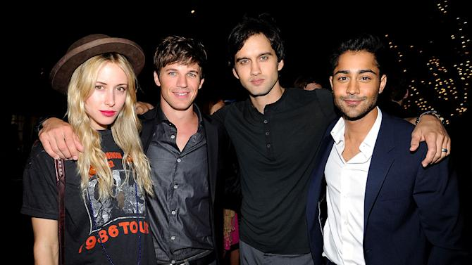 """Gillian Zinser, Matt Lanter, Michael Steger, and Manish Dayal of """"90210"""" attend The CW Fall Premiere party presented by Bing at Warner Bros. Studios on September 10, 2011 in Burbank, California."""