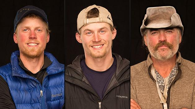 "Tyrell Seavey, Dallas Seavey, and Marty Raney on National Geographic Channel's ""Ultimate Survival Alaska."""