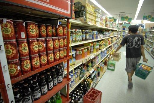 This file photo shows a customer shopping at a supermarket in Quezon City in Manila. Philippine authorities have ordered the recall of six brands of South Korean noodles from local shops after they were reported to contain a cancer-causing chemical