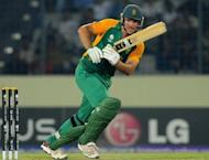 "South African captain Graeme Smith plays a shot during the quarter-final match of the ICC World Cup 2011 against New Zealand at the Sher-e-Bangla stadium in Dhaka 2011. South Africa's convenor of selectors Andrew Hudson has labelled as ""awesome"" the team that will tackle England in a mid-year three-Test cricket series"