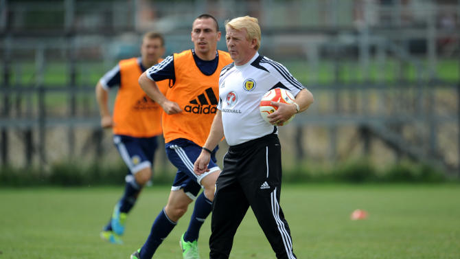 Soccer - FIFA World Cup Qualifying - Group A - Macedonia v Scotland - Scotland Training Session - Macedonia National Training Centre