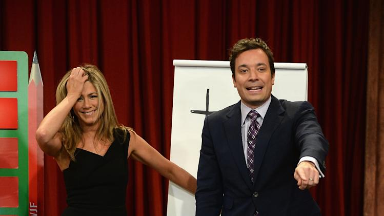 "Jennifer Aniston Visit ""Late Night With Jimmy Fallon"""