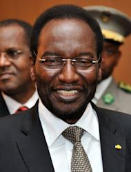 """Dioncounda Traore, the interim president of Mali, attends an emergency ECOWAS summit held to discuss violence and unrest in Mali and Guinea Bissau, on April 26, in Abidjan. The ECOWAS leaders announced that a regional military force would be sent to northern Mali and between 500 and 600 troops to Guinea-Bissau to help """"secure"""" the transition"""