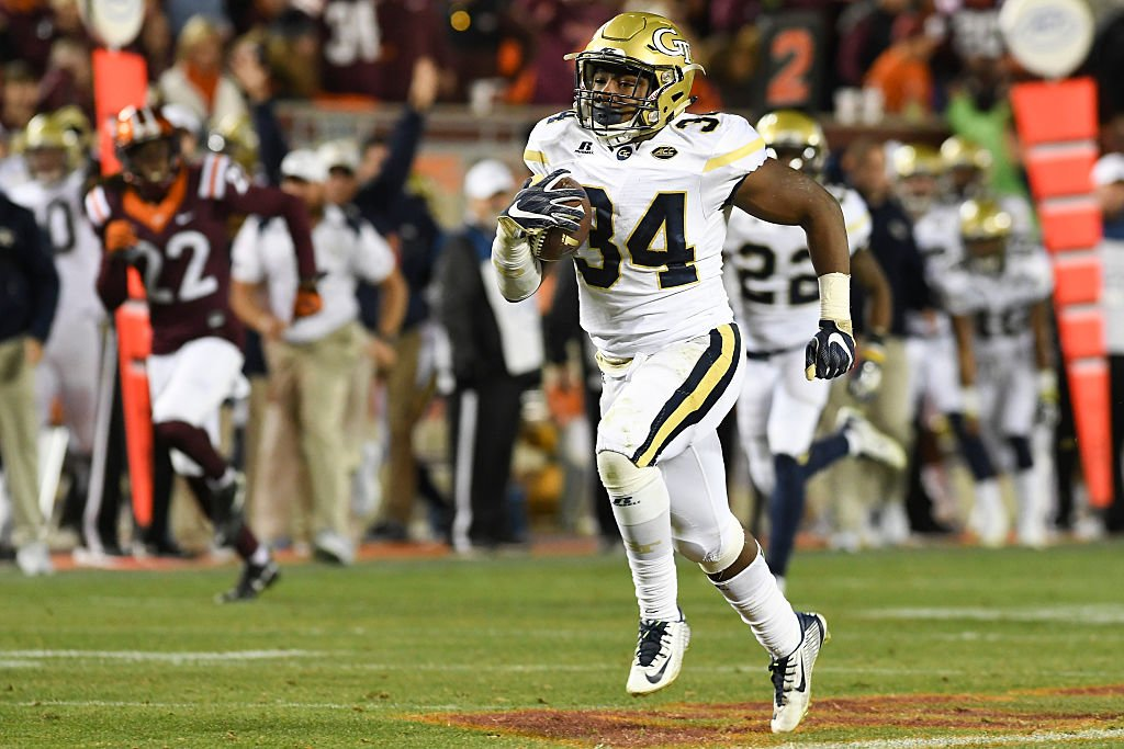 Marcus Marshall has led Georgia Tech in rushing each of the last two seasons. (Getty)