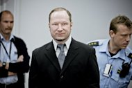 Anders Behring Breivik during his trial in Oslo on May 9. The Norwegian prison where Breivik may be locked up for massacring 77 people last year will hire people with whom he can socialise, to keep him away from other inmates, media reported Thursday