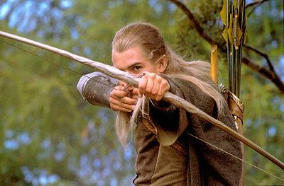 Orlando Bloom as Legolas in New Line's The Lord of The Rings: The Fellowship of The Ring