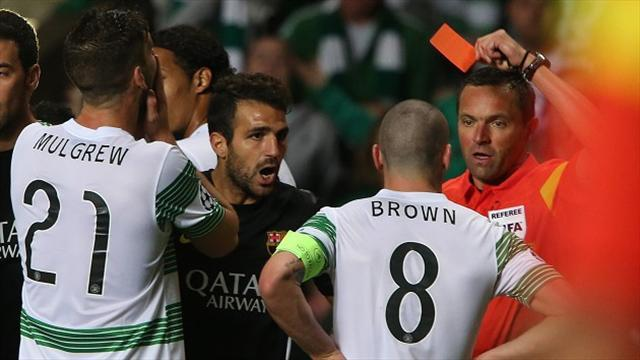 Football - Lennon unhappy with Brown red card