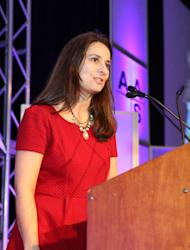 Astronomer Natalie Batalha discusses the possibility of alien Earth-like planets and what the discovery of a true Earth twin could mean during a talk at the 221st American Astronomical Society meeting in Long Beach, Calif., on Jan. 8, 2013.