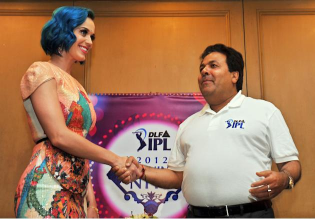 Katy Perry and Rajiv Shukla