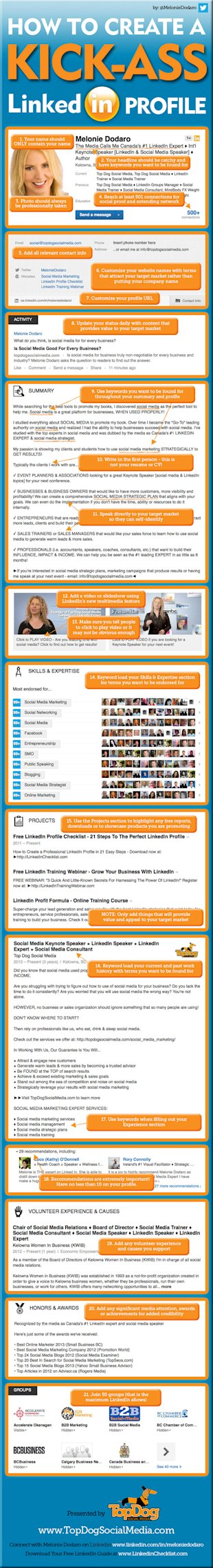 21 Steps to Create an Awesome LinkedIn Profile image How to create an awesome LinkedIn Profile