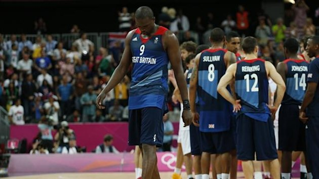 Great Britain's Luol Deng walks off the court after losing to Spain (Reuters)