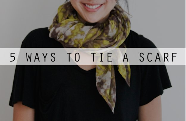 One Scarf And Five Different Fashionable Ways To Tie It