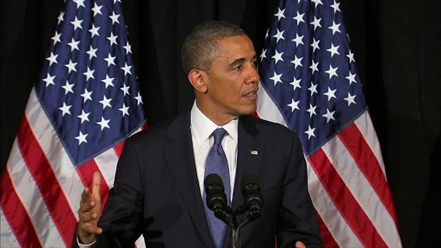 "Obama raps ""shortage of common sense"" in Washington"