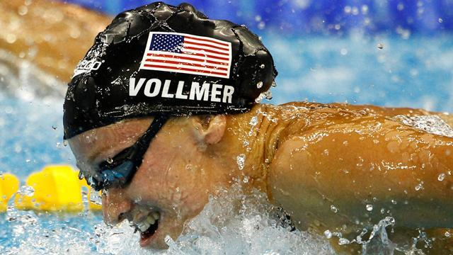 Swimming - Vollmer wins butterfly, Lochte settles for second