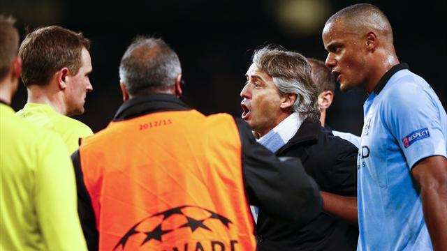 Champions League - Mancini escapes UEFA action after ref row