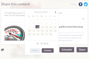 How Klout Is Poised To Clean LinkedIn's Content Clock image Klout Schedule Social Updates