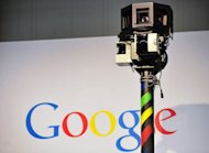 The camera of a street-view car is seen on the Google street-view stand at the CeBIT high-tech fair in Hanover on March 3, 2010. German authorities say they have fined Google for illegally collecting massive amounts of personal data including emails, passwords and photos while setting up its disputed Street View service