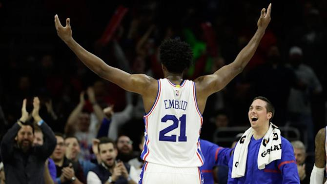 76ers center Joel Embiid named NBA Eastern Conference Player of the Week