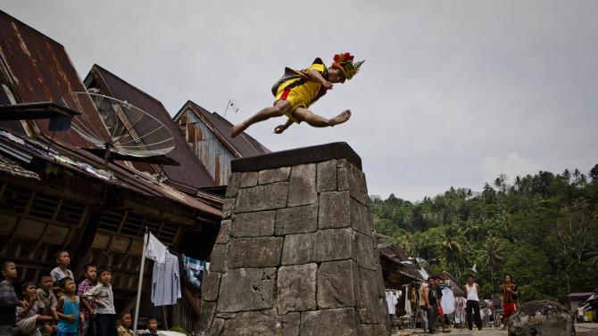 Stone Jumping In North Sumatra