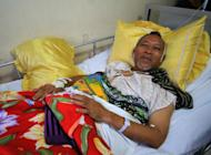 Mayor Abdulmalik Manamparan at a hospital on the southern Philippine island of Mindanao, on April 26, 2013. Police said they have identified and are hunting eight gunmen who killed 13 people in an ambush on the mayor