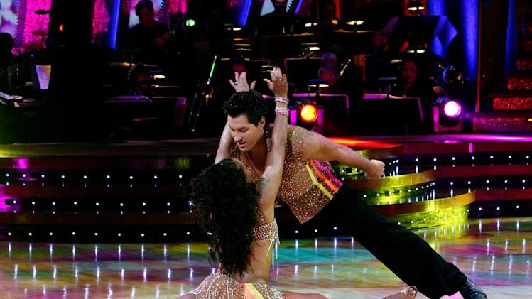 Melanie Brown and [ytvperson id=2187851]Maksim Chmerkovskiy perform a dance on the 5th season of Dancing with the Stars. Maksim Chmerkovskiy