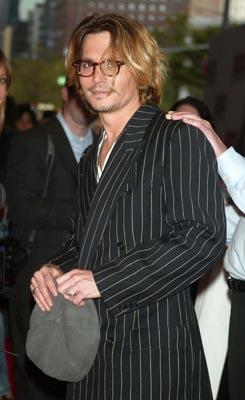 Johnny Depp at the New York premiere of Columbia's Once Upon a Time in Mexico