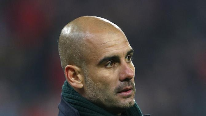 Head coach of Bayern Munich Pep Guardiola observes his player during their Champions League Group D soccer match against Viktoria Pilsen in Pilsen, Czech Republic, Tuesday, Nov. 5, 2013. Bayern won the match 1-0
