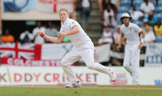 Cricket: England's Ben Stokes fields off his own bowling