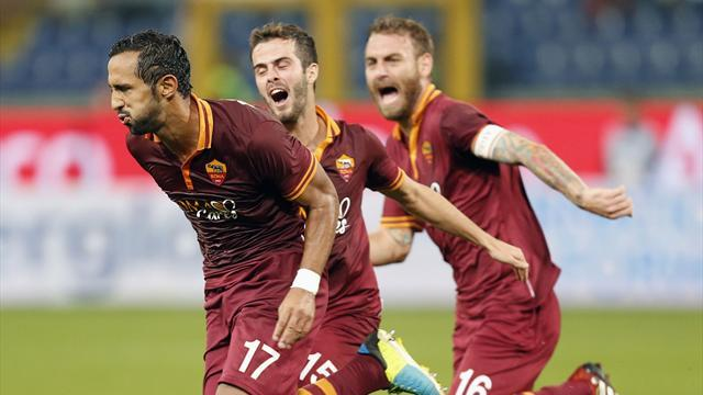 Serie A - Roma move clear with Sampdoria win
