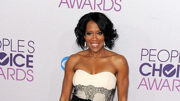 """BEST: Regina King.  Elegant in a white and black lace cocktail dress, the """"Southland"""" star is on hand to present an award to her friend, Sandra"""