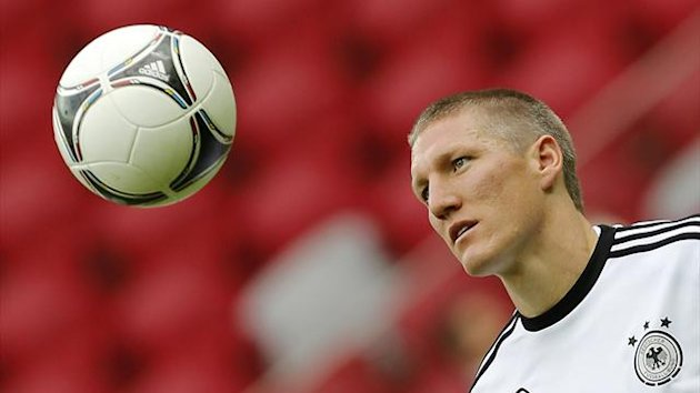 Bastian Schweinsteiger trains with Germany, 2012