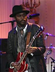 """Gary Clark Jr. performs during the """"In Performance at the White House"""" series, in Washington"""