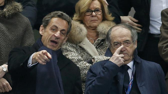 Former French President Sarkozy attends the international friendly soccer match between France and the Netherlands at the Stade de France in Saint-Denis