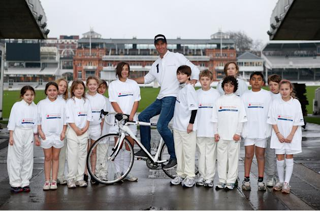 Michael Vaughan Charity Bike Ride Launch & Project Visit - Laureus Shoot