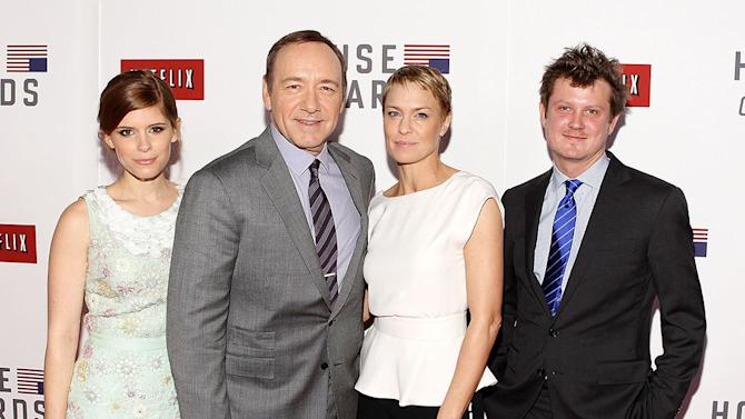 """Netflix's """"House Of Cards"""" Washington DC Screening: Kate Mara, Kevin Spacey, Robin Wright and Beau Willimon"""