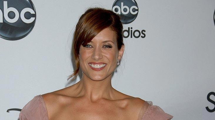 Kate Walsh arrives at the ABC Summer Press Tour Party at the Beverly Hilton Hotel.