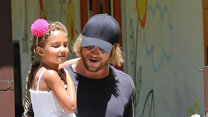 Gabriel Aubry Picking Daughter Nahla Up From School
