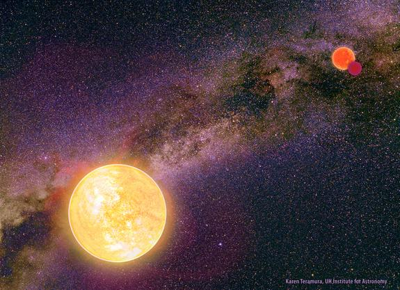 The widest binaries and triple systems have very elongated orbits, so the stars spend most of their time far apart. But once in every orbital revolution they are at their closest approach.