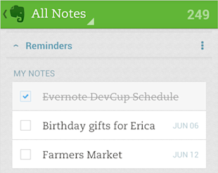 Evernote Reminders Now Available on Android, iOS, Mac and Web image android checkoff