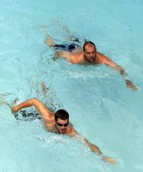 South African Cricket Team Pool Session