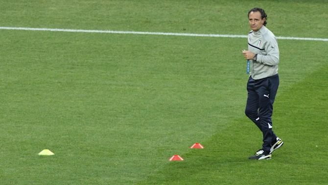 Cesare Prandelli insists his only focus is on Italy's game with Ireland