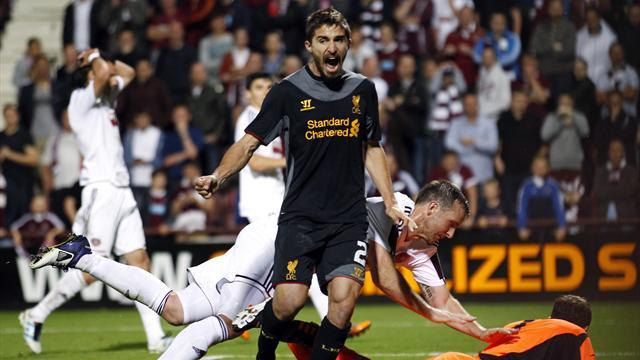 Own-goal hands Liverpool Europa win over Hearts