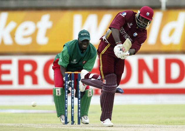Chris Gayle of the West Indies on his way to 119