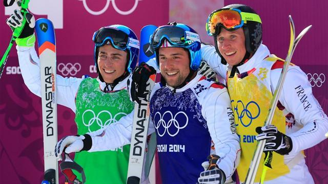 Freestyle Skiing - French medallists look after number one, and each other