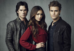 Ian Somerhalder, Nina Dobrev, and Paul Wesley | Photo Credits: Justin Stephens/The CW